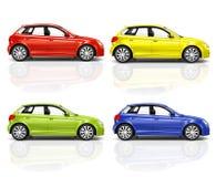 Set 3D Hatchback samochód Zdjęcie Stock