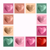 Set of 3d hearts on a light background Stock Image