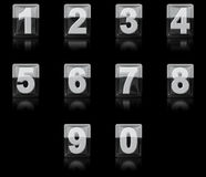 A set of 3D icon numbers Stock Images
