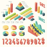 Set 3d infographic Template presentation Isometric Royalty Free Stock Photo