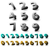 Set of 3d numbers. Royalty Free Stock Photos