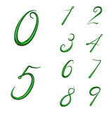 Set of 3d numbers from 0 to 9 Stock Images