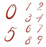 Set of 3d numbers from 0 to 9 Stock Photo