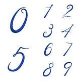 Set of 3d numbers from 0 to 9 Royalty Free Stock Photo