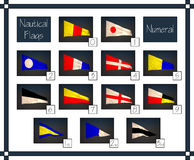 Set of 3D Numeral Nautical flags Stock Image