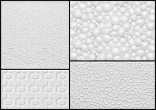 Set of 3d relief wall panel with abstract geometric pattern. Stock Photos
