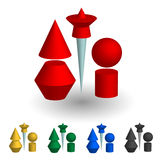 A set of 3D shapes Royalty Free Stock Photo