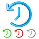 Set of 3D shiny backup symbols. On white background - vector illustration Royalty Free Stock Image