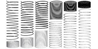 Set with 3D springs Stock Photography