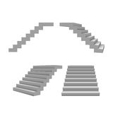 Set of 3d stairs, vector template for your design. On hite Stock Photos