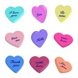 Set of  3d valentines  hearts. On  white background.Vector illustration Royalty Free Stock Image