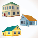 Set of 3D Vector Buildings. Royalty Free Stock Image