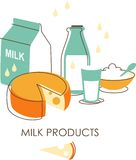 Set of dairy products Stock Photography