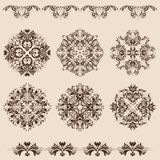 Set of  damask ornaments Royalty Free Stock Photos