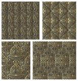 Set of Damask seamless pattern Royalty Free Stock Photography