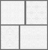 Set of Damask seamless pattern. Stock Photo