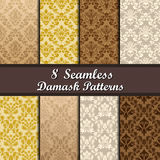 Set of  Damask Seamless Patterns Stock Photography