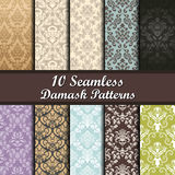 Set of  Damask Seamless Patterns Stock Images