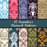 Set of  Damask Seamless Patterns Stock Photo