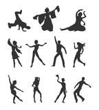 Set of Dancing Peoples Flat Vector Illustrations Stock Photo