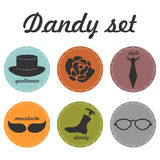 Set of dandy icons Stock Images