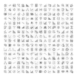 Set dane analityka cienieje kreskowe ikony ilustracji