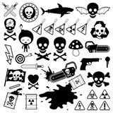 Set of danger icons Royalty Free Stock Images