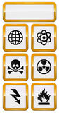 Set of danger icons Royalty Free Stock Image