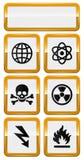 Set of danger icons Royalty Free Stock Image