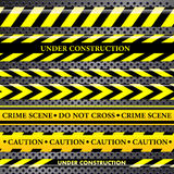 Set of danger and police lines Royalty Free Stock Photography