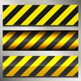 Set of Danger and Police Warning Lines Stock Photo