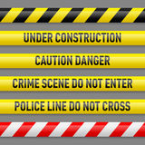 Set of danger tapes Royalty Free Stock Photography