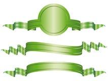 Set dargestellte Bogenfahnen stock abbildung