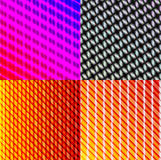Set of dark abstract spectrum background lines. Royalty Free Stock Photo