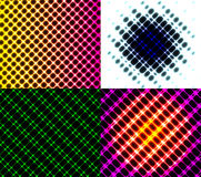 Set of dark abstract spectrum background lines. Royalty Free Stock Image