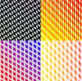 Set of dark abstract spectrum background lines. Stock Photography