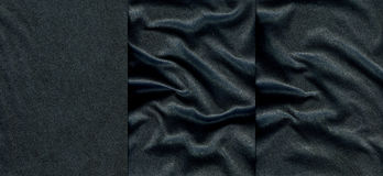 Set of dark blue leather textures Stock Photos