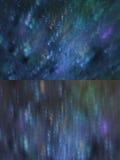 Set of dark blue with lights bokeh Royalty Free Stock Photo