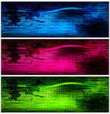 Set of dark grunge banners. Illustration for your design Royalty Free Stock Photography