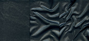 Set of dark leather textures. For background Royalty Free Stock Photos
