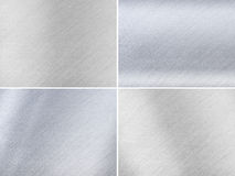 Set of Dark and Light Grey Metal Textures Stock Images