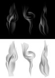 Set of dark and light smoke Stock Images