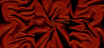 Set of dark red crumpled leather textures. For background Royalty Free Stock Image