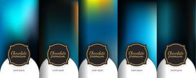Set of dark vintage seamless backgrounds for luxury packaging design. Luxury template label set. Modern colorful backgrounds for flowing packaging design vector illustration