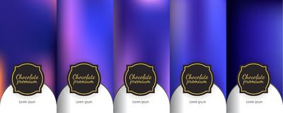Set of dark vintage seamless backgrounds for luxury packaging design. Luxury template label set. Modern colorful backgrounds for flowing packaging design stock illustration