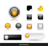 Set of dark  web buttons Royalty Free Stock Images