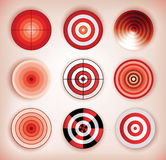 Set of dartboards Stock Photography