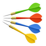 Set of darts. Vector illustration Royalty Free Stock Images