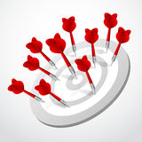 Set of darts black Vector red game concept Stock Photography