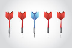 Set of darts illustration design Stock Image